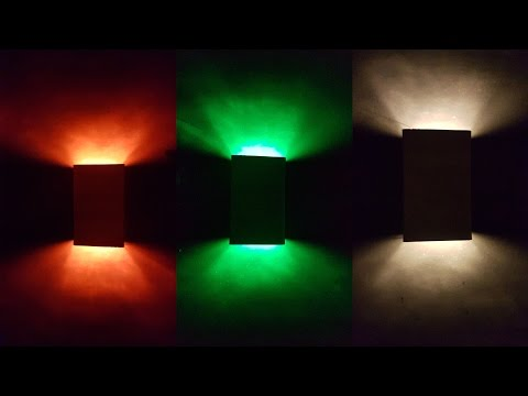 How to Make 3W Led Wall Paper Lamp Light for Home Decoration