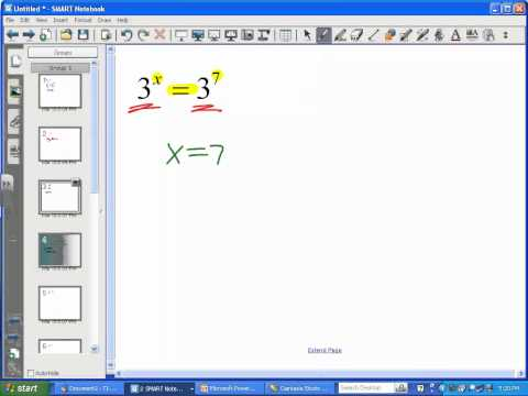 Exponential Equations (Same Base) - LT11 (Part 1)