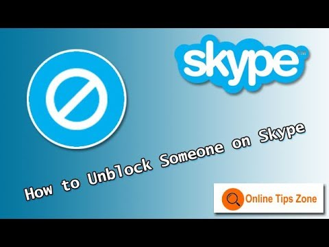 How to Unblock Someone on Skype