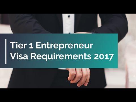 Tier 1 Entrepreneur Visa Requirements 2017