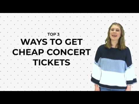 [TOP 3] WAYS TO GET CHEAP CONCERT TICKETS | YOUTHS CHOICE