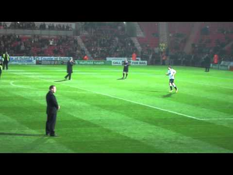 Stan Lucas at louis' charity game - penalty shoot out
