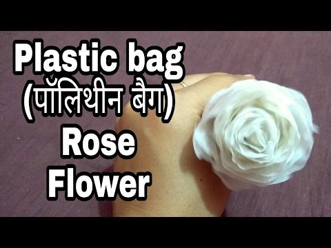 How to make plastic bag Rose Flower   HMA##019
