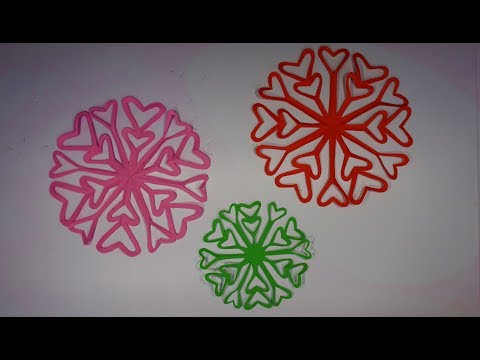 How to make Paper snowflakes on Pinterest | Easy Tutorial