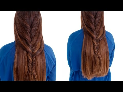 Braided Hairstyle - Easy Loose Fishtail Braid Tutorial