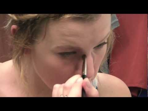 Black eye, broken nose, swollen lip, bruised head makeup tutorial
