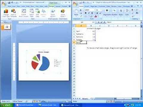 Adding a Chart in PowerPoint 2007