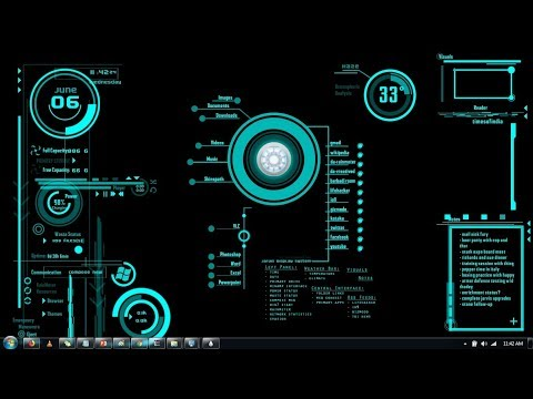 How to install Jarvis ( Iron Man AI Interface ) theme on Windows 7 on Rainmeter