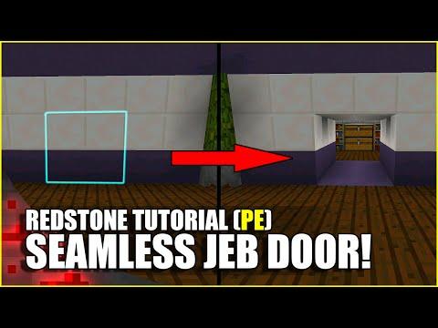 Minecraft PE Redstone: Seamless Jeb Door!