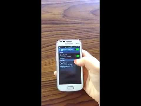 SAMSUNG GALAXY S DUOS 2 :How to unmute audio when playing audio?