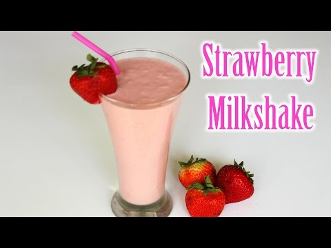 Strawberry Milkshake Recipe | Easy Strawberry Shake Recipe | How to Make Strawberry Milkshake