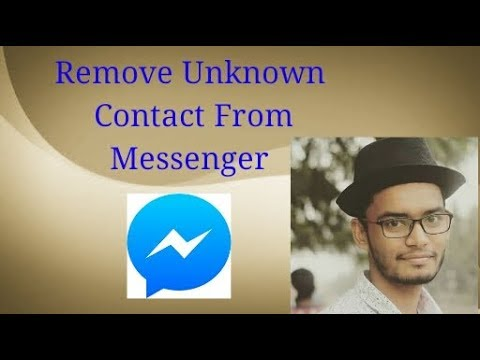 How can remove contact from messenger 2017
