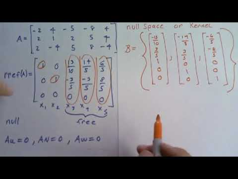 Easy trick for null space in linear algebra. This will save you a ton of time!