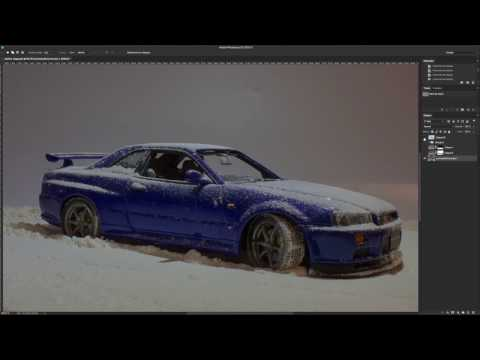 How to create fake picture with flour and diecast car