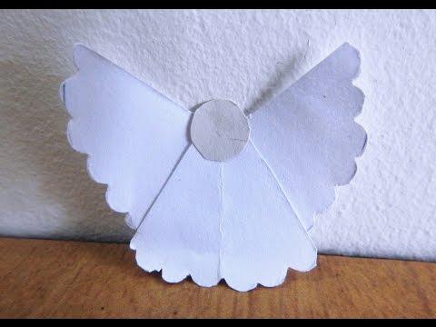 Easy & Cute Paper Angel Tutorial/Instructions ~ Kids Craft ~ Christmas decor ~ Room Decor / DIY