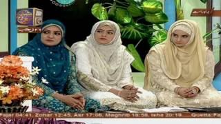 Shan e Mairaj - Female Segment - Live From Karachi - 24th April 2017 - ARY Qtv