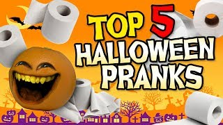 Annoying Orange - Top 5 Halloween Pranks! #Shocktober