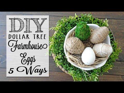 DIY Farmhouse Eggs | 5 Ways | Dollar Tree Craft