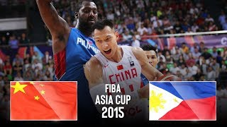 China 🇨🇳 v Philppines 🇵🇭 - Classic Full Games | FIBA Asia Cup 2015