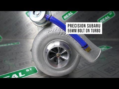 Precision 55mm Bolt On Turbo for Subaru EJ20 and EJ25 WRX & STI - Real Street Performance