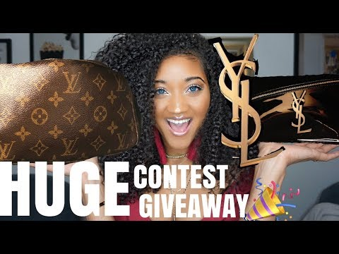 (OPEN)100K DESIGNER Giveaway Contest!!! Huge Prizes! YSL, Louis Vuitton, Makeup, + MORE!