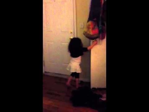 Toddler scared by monster in the closet