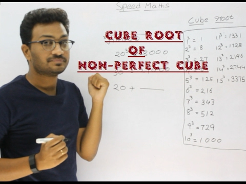 Cube Root of any number which is not a perfect cube (5th video)