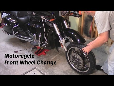 Motorcycle Front Wheel Change