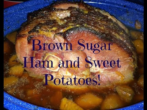 Easy Meals: Easter Brown Sugar Spiral Sliced Ham and Sweet Potatoes