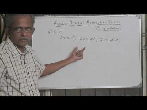 Finding Primitive Pythagorean Triples - using formula