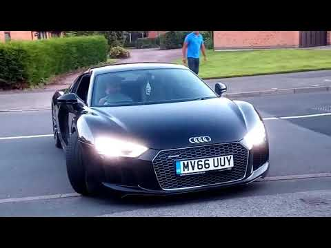 Audi r8 v10 plus exhaust bang and crackle