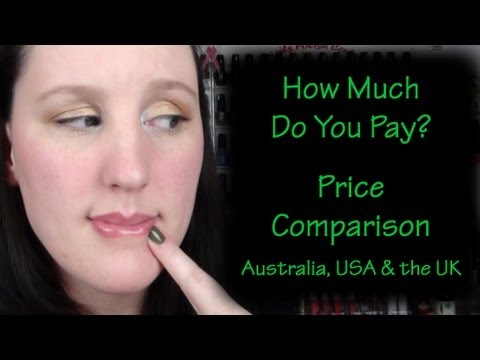 How Much Is that? Price comparison Australia, USA and UK ( beauty related )