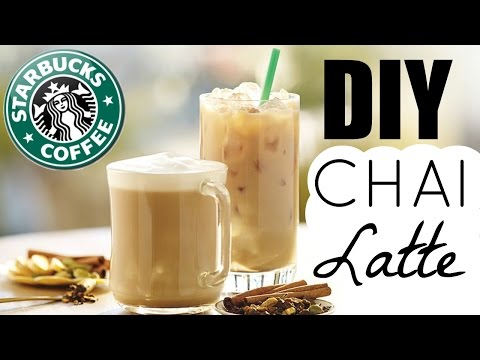 DIY STARBUCKS DRINKS |  CHAI LATTE TWO WAYS!