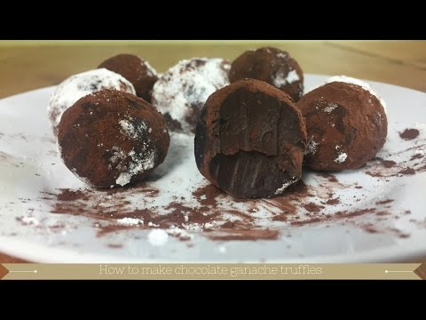 What to do with leftover chocolate ganache - Make chocolate ganache truffles