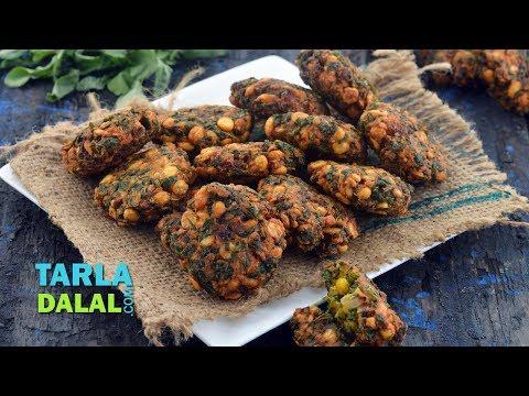 Keerai Vadai, Amaranth Leaves Vada by Tarla Dalal