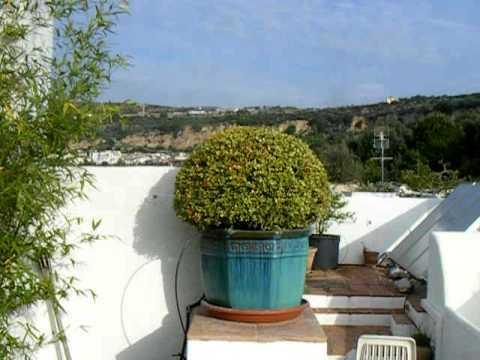 spanish villa white wall