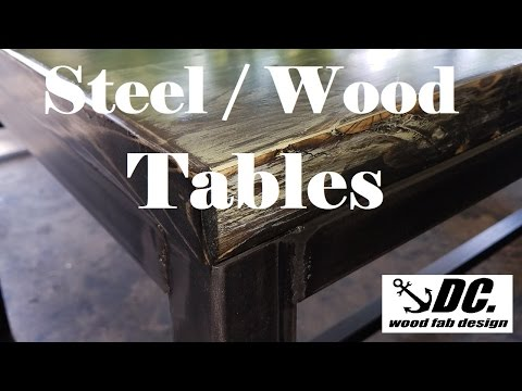 DC. STEEL/WOOD TABLES