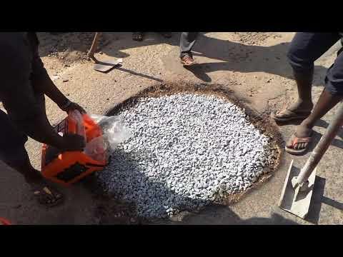 Instant Pothole repair in Bengaluru India  using Instarmac