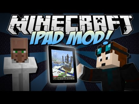 Minecraft | iPAD! (Use Apps, Blow Things Up & Turn into a Rocket!!) | Mod Showcase [1.6.2]