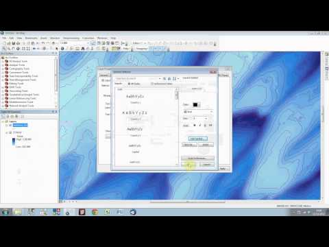Tips on contour labeling, index lines and symbology in ArcGIS