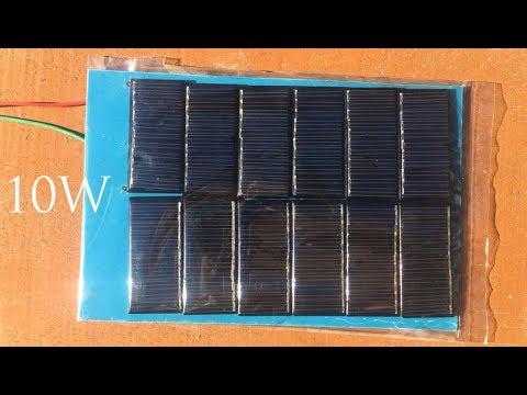 How to build 10W solar panel , Free energy , Solar energy 2018