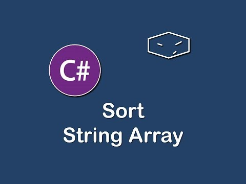 sort string array in c#