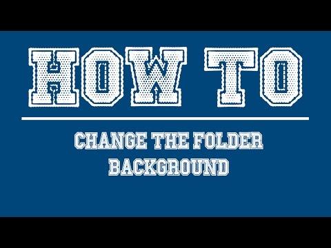 How to Change Folder Background