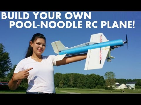 DIY Your own Pool-Noodle RC 3D Trainer airplane!