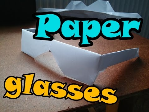 | How To Make | paper glasses (origami tutorial)