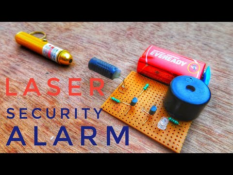 How to Make Laser Security Alarm Very simple security system