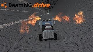 BeamNG drive - CAMINHÃO DRAG VS TÚNEL.