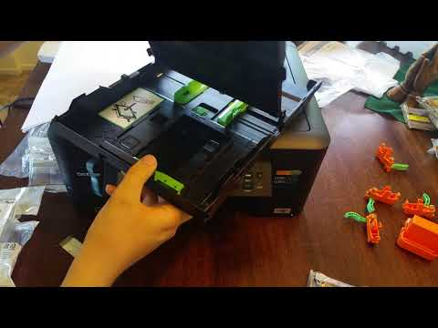 Brother mfc-j480dw mfc-j460dw mfc-j485dw  Unboxing Setup and review tutorial remanufactured ink
