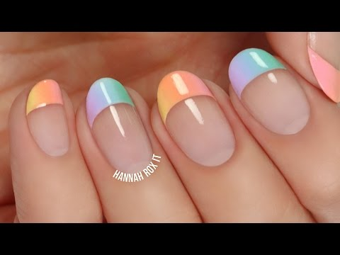 Pastel Gradient French Tip Manicure
