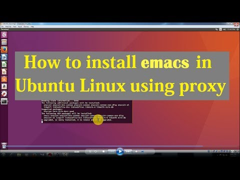 How to install emacs in ubuntu using Proxy